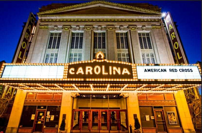 Carolina Theatre Front View Greensboro North Carolina