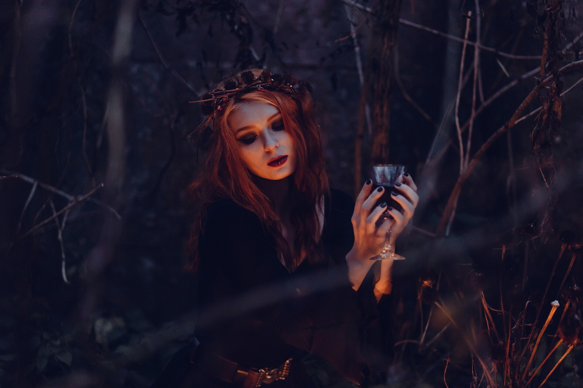 Dark Witch in the Woods