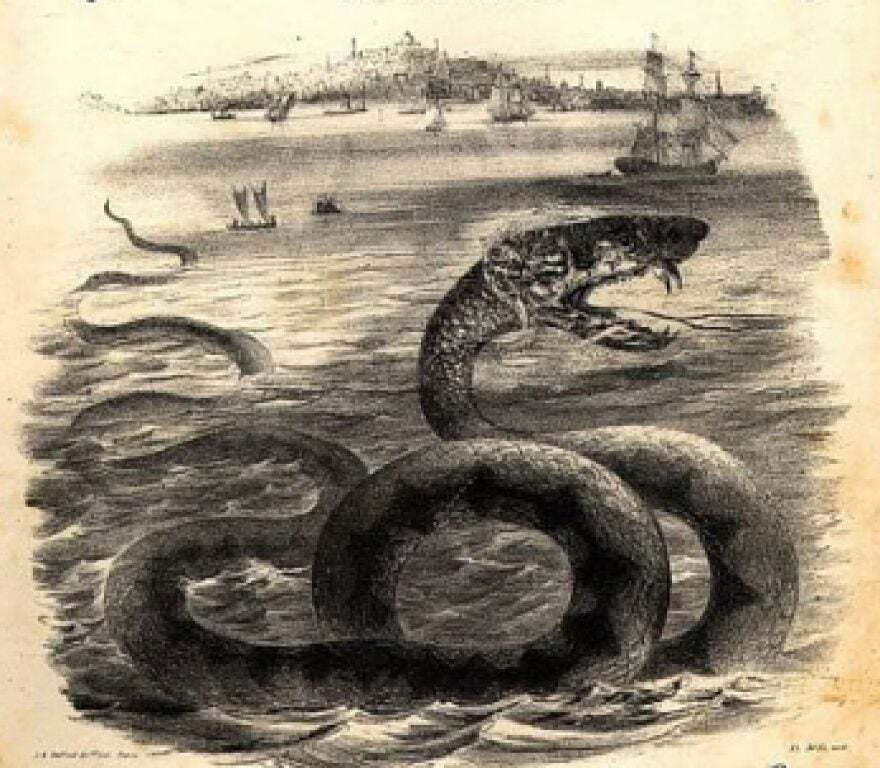 River Serpent Drawing